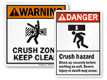 Crush Hazard Signs