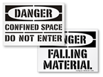 Danger Floor Stencils