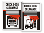 Dock Door and Check Door Clearance Signs