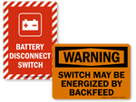 Electrical Switch Signs