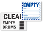 Empty Drum Labels