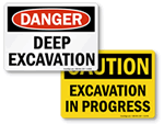 Excavation Signs