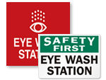 Eye Wash Station Signs