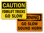 Forklift Speed Limit Signs