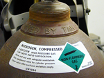 Gas Cylinder Shoulder Labels