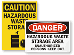 Hazardous Storage Area Signs