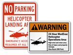 Helicopter Landing Area Signs