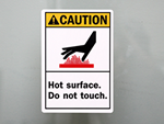 Hot Surface Labels