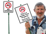 LawnBoss™ No Smoking Signs