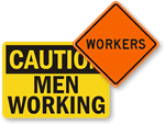 Men at Work Signs