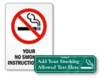 Custom No Smoking Signs