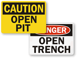 Open Trench and Pit Signs