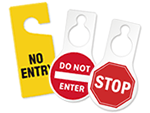 No Entry Door Tags