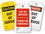 Out of Service Tags | Equipment Out of Service Tags