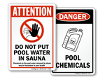 Pool Maintenance Signs