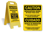 Renovation Work Area Signs