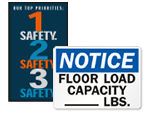 Warehouse Floor Signs