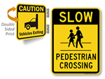 Exiting Garage Signs – Watch for Cars, Vehicles and Pedestrians