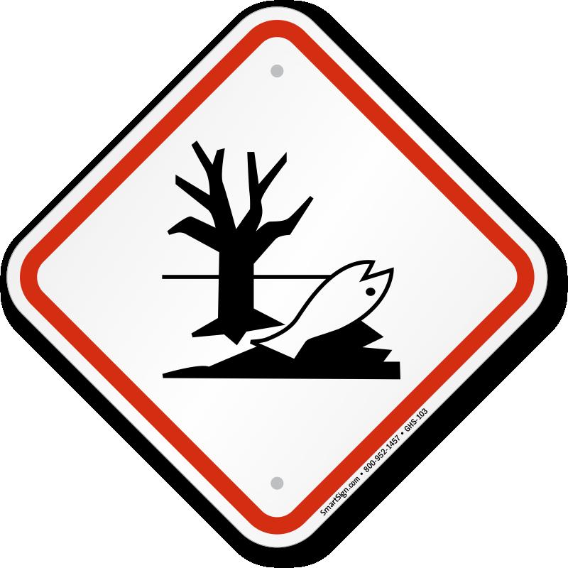 Global Harmonized System Dangerous For Environment Sign Sku Ghs