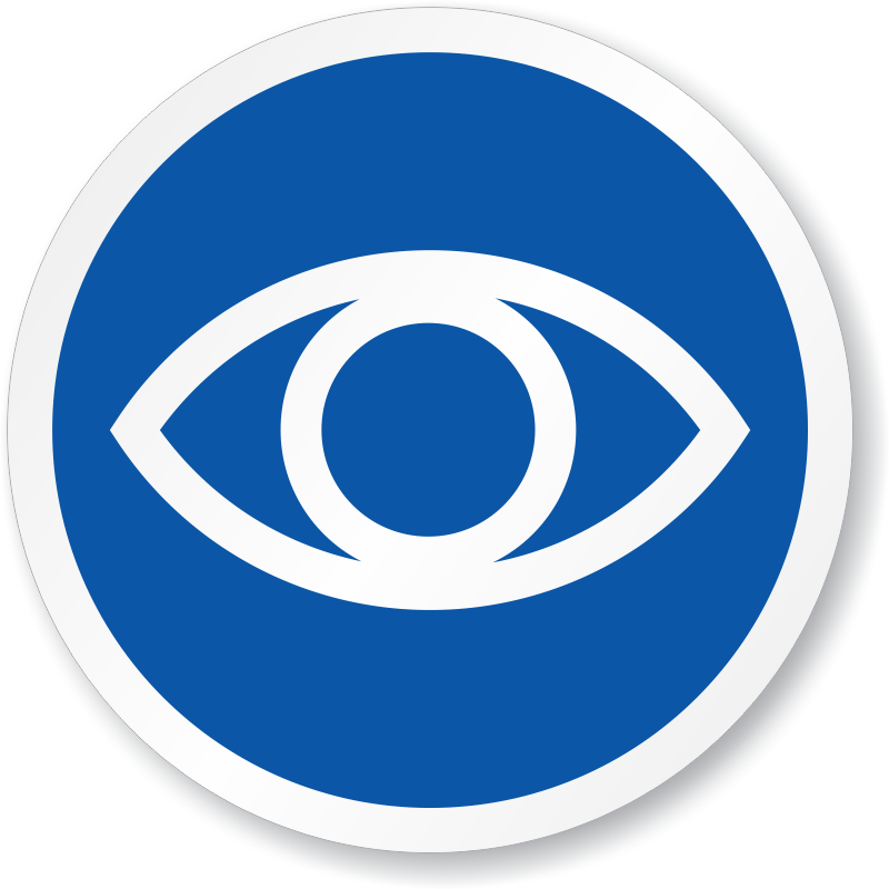 Eye Symbol Iso Circle Sign Free Shipping Online Sku Is 1254