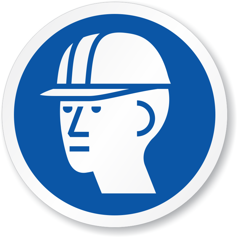 Iso Circular Hard Hat Required Symbol Sign Sku Is 1020