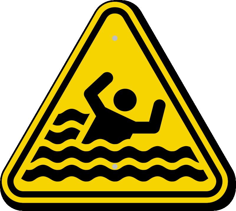 Iso Beware Of Drowning Warning Sign Symbol Ships Free Sku Is