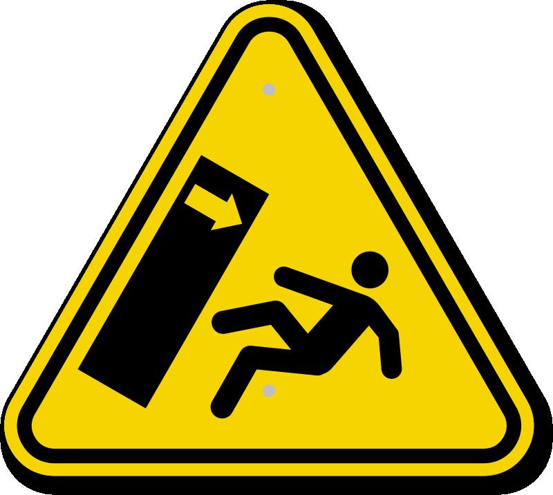 Iso Body Crush Tipover Hazard Warning Sign Symbol Sku Is 2044