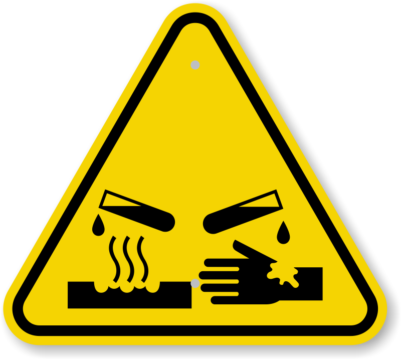 Iso Corrosive Materials Warning Sign Symbol Best Prices Sku Is