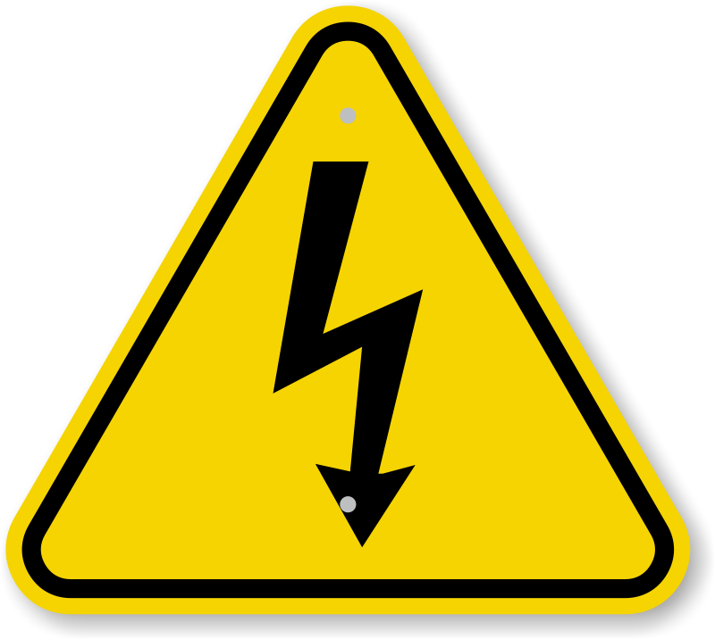 Iso Electrical Shock Electrocution Warning Sign Symbol Sku Is