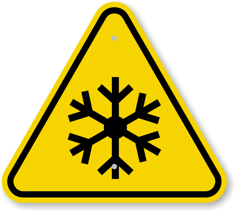 Iso Freezing Hazard Warning Sign Symbol Ships Fast Free Sku Is