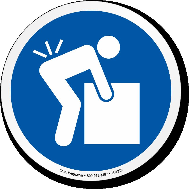 Lifting Hazard Iso Mandatory Circle Symbol Sign Sku Is 1310