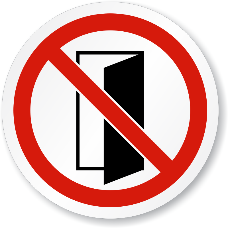 Do Not Close Open Door Symbol Iso Prohibition Sign Sku