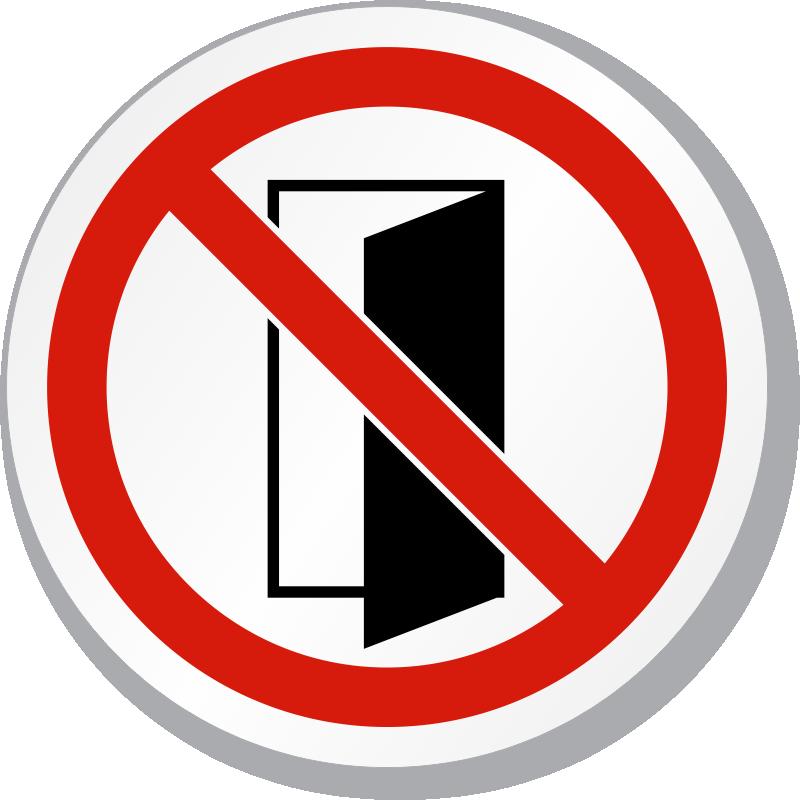 Do Not Closeopen Door Symbol Iso Prohibition Sign Sku Is 1286