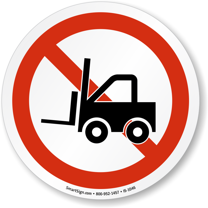 Iso Prohibition Sign No Forklift Symbol