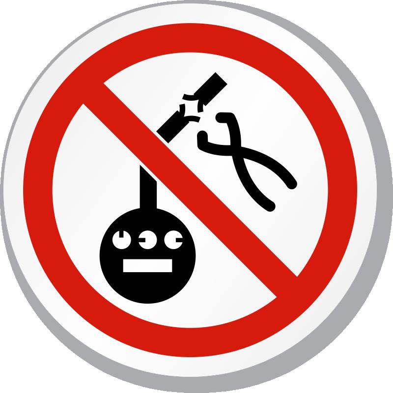 No Tampering Meter Symbol ISO Prohibition Circular Sign, SKU: IS ...
