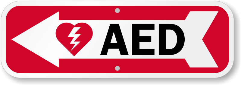 Aed Left Arrow Sign Unbeatable Prices Made In Usa Sku K 0143 L