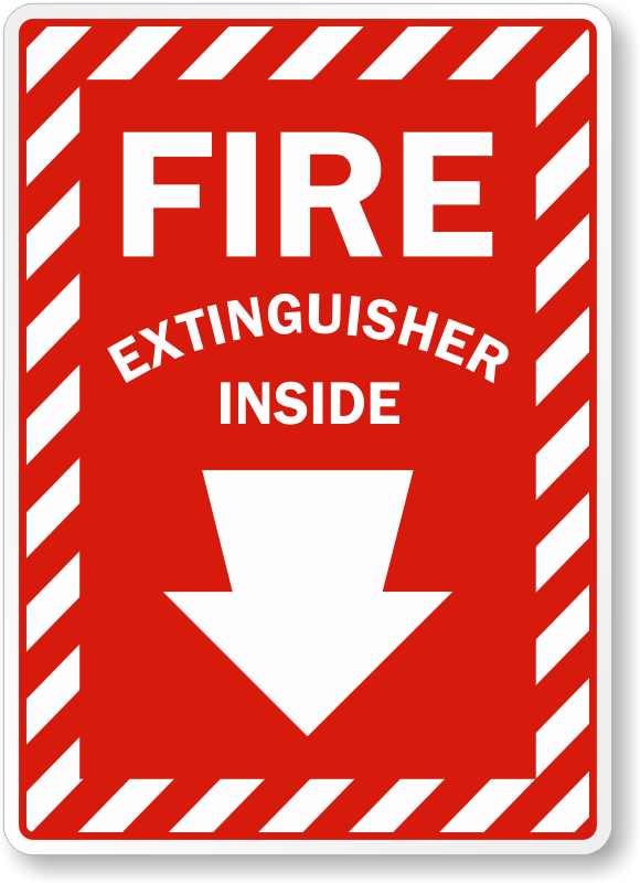 Fire Extinguisher Inside Signs Fire Extinguisher Inside