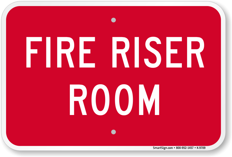 Fire Riser Signs | Fire Riser Room Signs