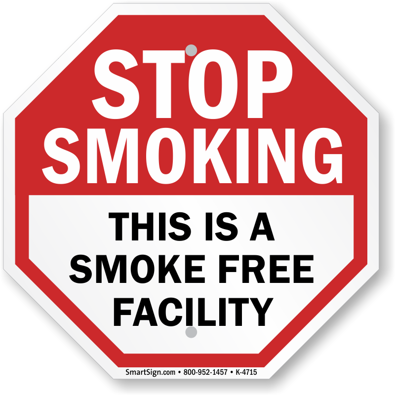 picture regarding Printable No Smoking Sign identify Avert Smoking cigarettes This Is A Smoke No cost Facility Indication, SKU: K-4715