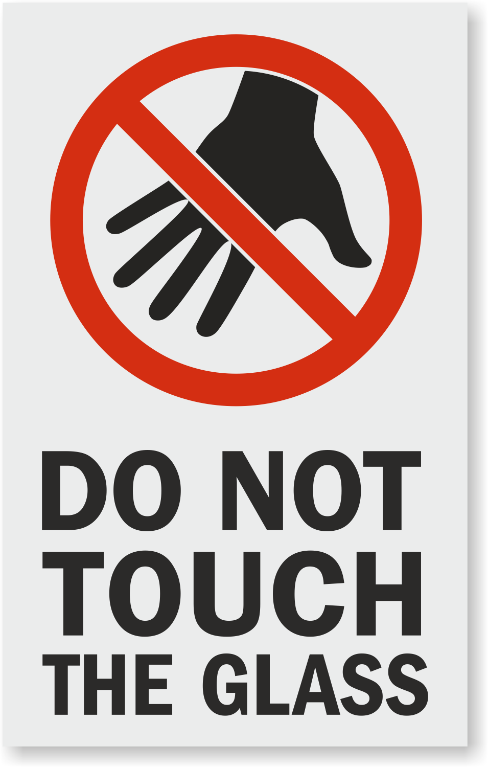 Do Not Touch The Glass Window Decal Signs Sku Lb 4294
