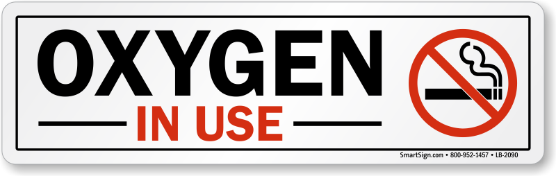 photo regarding Oxygen in Use Sign Printable called Oxygen Indications Oxygen within just Hire Indications No Using tobacco - Oxygen