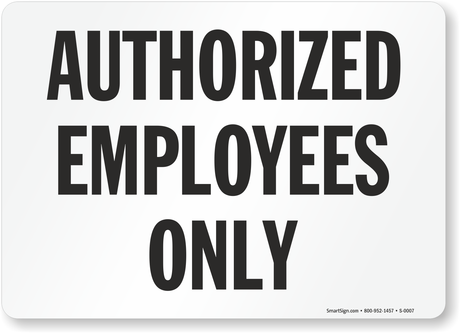 graphic regarding Printable Employees Only Sign identify Accepted Workforce Simply Signal, SKU: S-0007 -