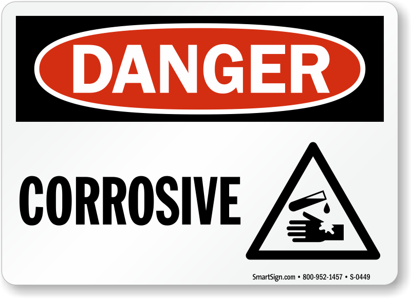 photo relating to Quarantine Sign Printable titled Risk Corrosive Indicator, SKU: S-0449 -