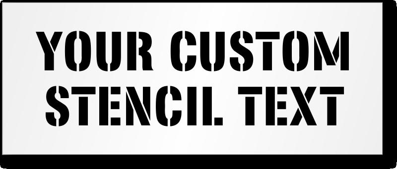 Floor Safety Stencils | Safety Message Stencils | Floor Stencils