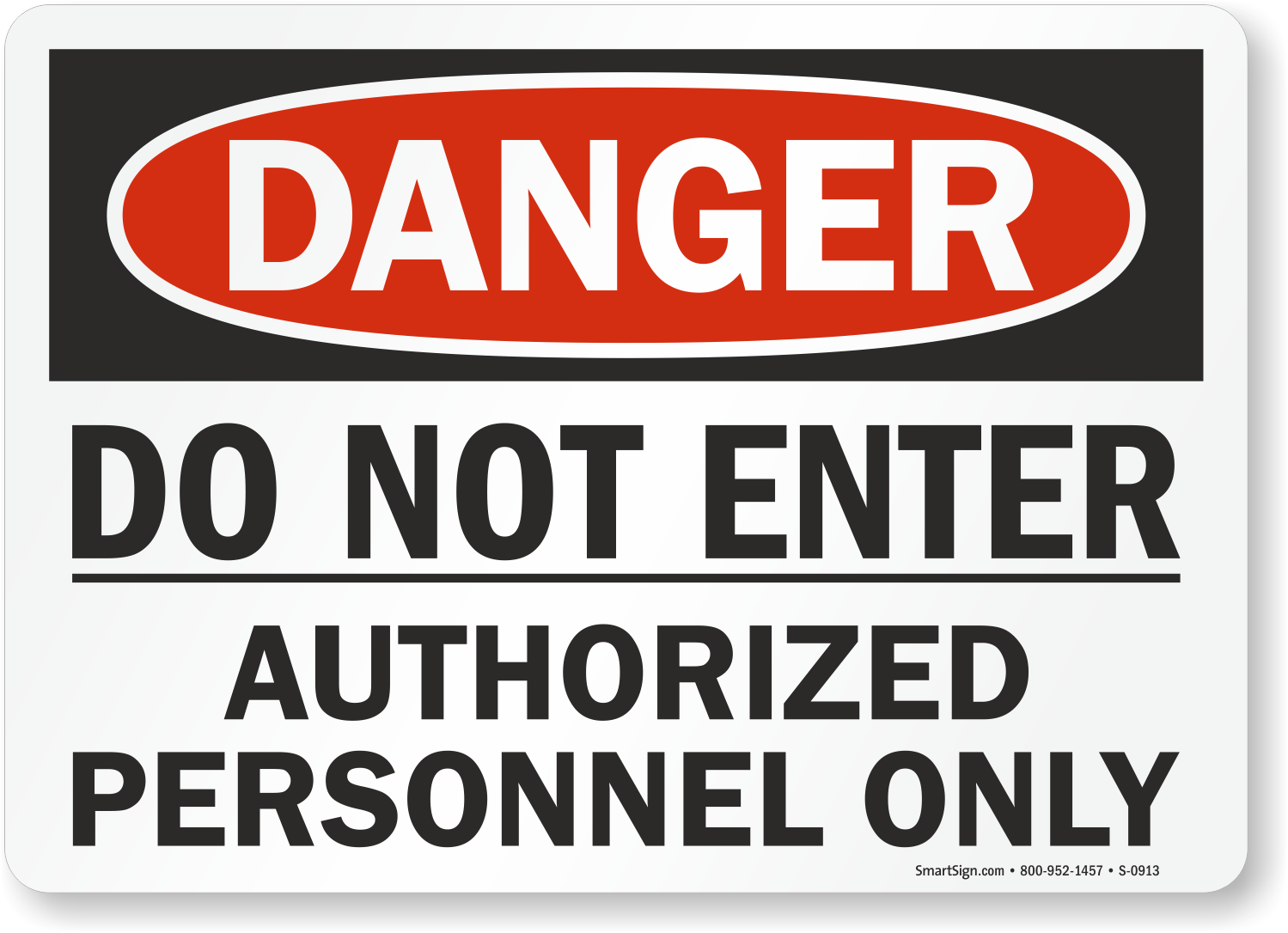 Restricted Area Authorized Personnel Only Sign SmartSign Notice 10 x 14 Aluminum