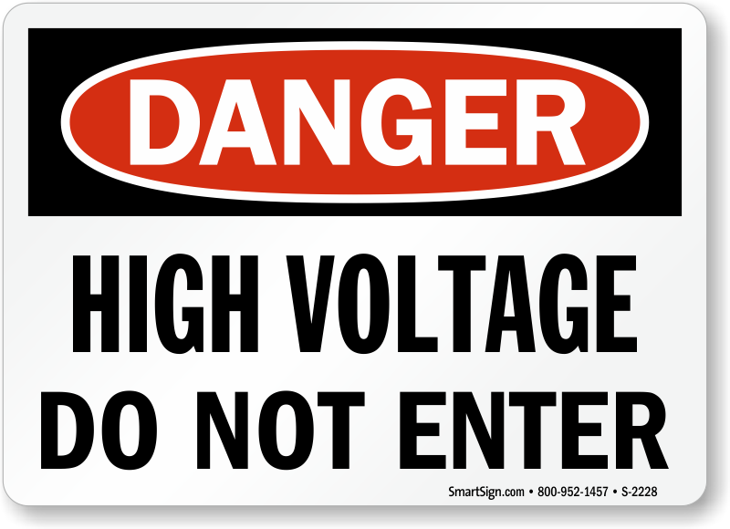 high voltage signs | fast, free shipping from mysafetysign