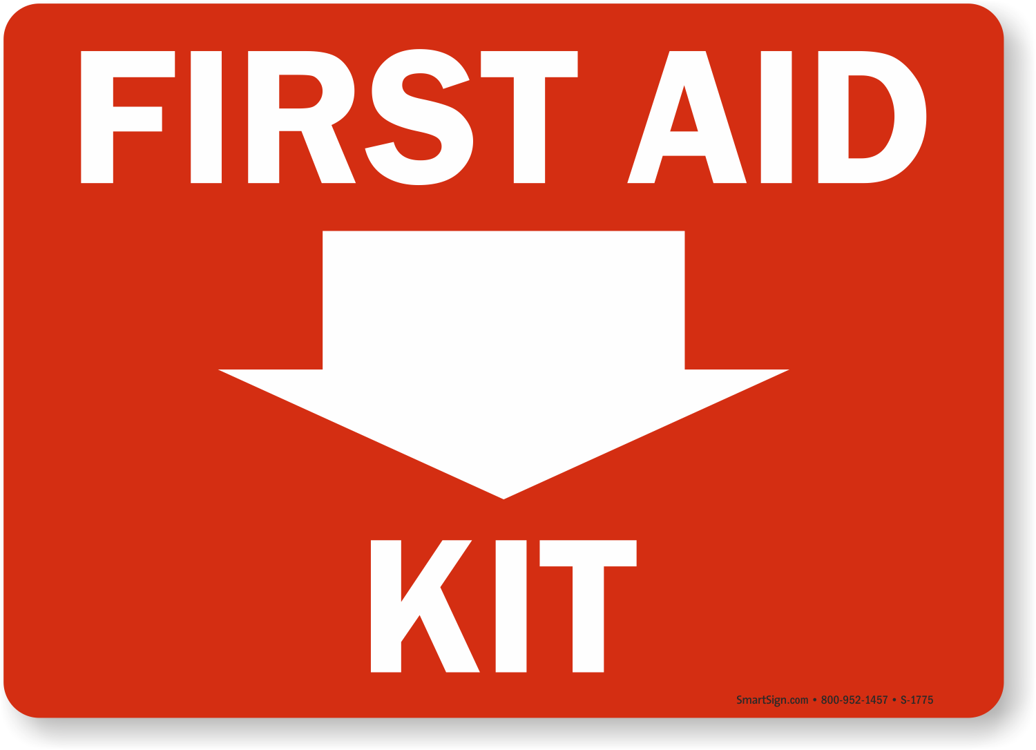 picture about Printable First Aid Sign named Initial Assist Package Indication, SKU: S-1775 -