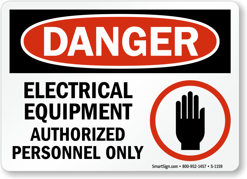Electrical Safety Gear : Electrical equipment signs warning sign