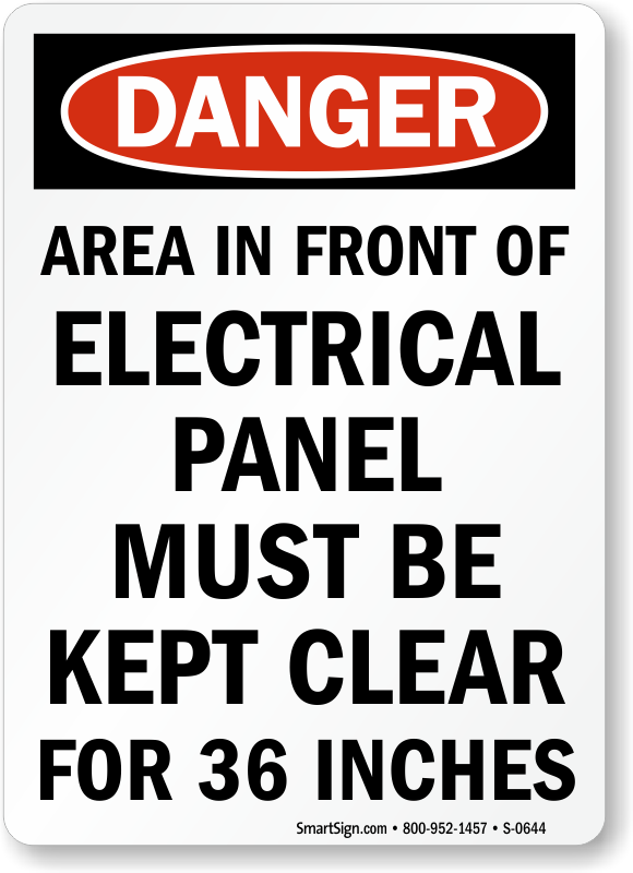 Electrical Panel Signs Electrical Panel Keep Clear Signs