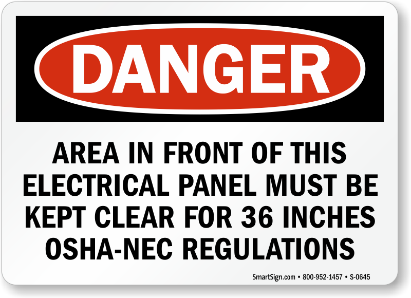 Electrical Panel Signs | Electrical Panel Keep Clear Signs